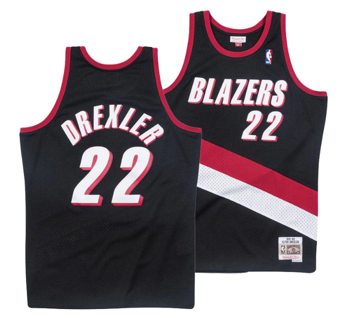 watch 32faa 6d1fa Details about Mitchell & Ness Swingman NBA Jersey Portland Trail Blazers  #22 Drexler Black