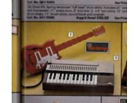 Retro - 1980'S bontempi kids electric style guitar, red and white, as sold in argos in early 80's
