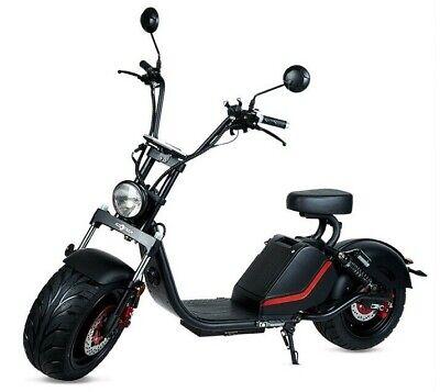 Moto electrica scooter matriculable 1500w 60v20Ah bateria Caigiee CityCoco negra