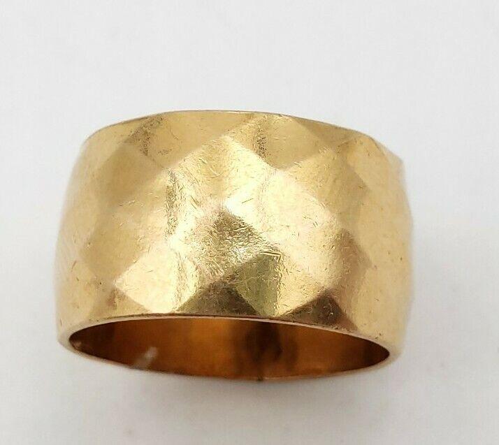 Antique McGrath Hamin MH 1/20 10K Gold Filled GF Patterned Cigar Band ring sz 6