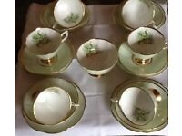 Clare bone china tea set
