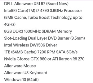Looking for alienware pc