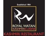 Staff required at Royal Watan Kashmiri Restaurant (waiters waitress delivery driver)