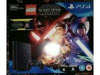PlayStation 4 slim 500gb boxed 4 games
