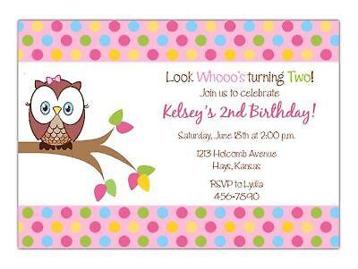 Owl Birthday Party INVITATION, Look Who's Turning,  Digital Printable Invitation
