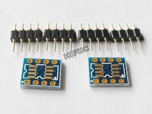 2x-SOP8-SO8-SOIC8-SOT-to-DIP8-adapter-PCB-convertor
