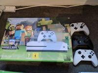 Xbox One with 3 controllers, Lego Dimensions starter kit and several other games
