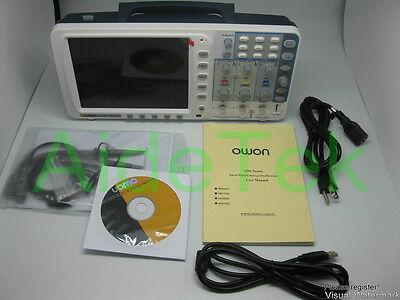 New Owon 100mhz Oscilloscope Sds7102 1gs Large 8 Lcd Lan Vga Included 3 Yrs Wa