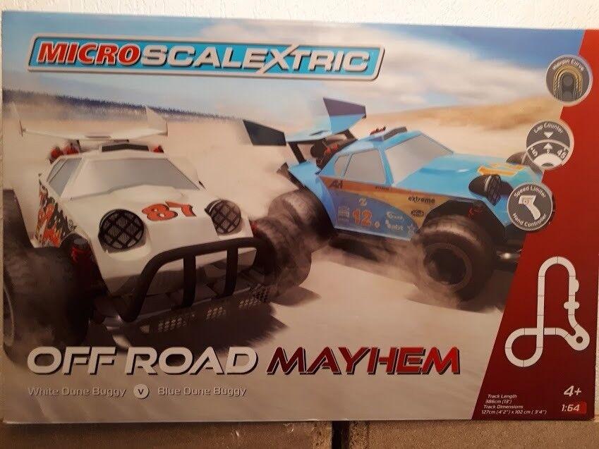 micro scalextric off road mayhem new in box