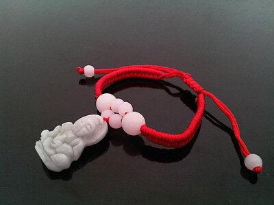 Feng Shui  Chinese Jade bracelet with  Kwan Yin /Guan Yin for protection