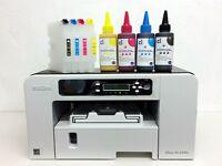 RICOH Aficio SG 2100N A4 SUBLIMATION Printer and Heat Press Transfer Kits BUNDLE