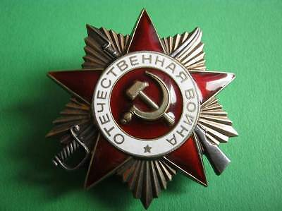 USSR Medal-star Order of Patriotic War First Class, nice patina.