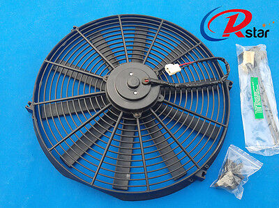 16 inch electric universal fan with mounting kit cooling radiator 16