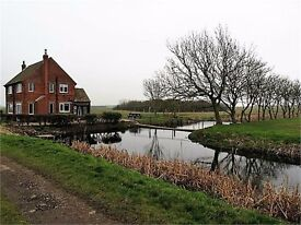 3 bed detached farmhouse for sale with 12 acres and outbuildings,fully refurbished.