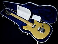 1998 USA PEAVEY EVH WOLFGANG SPECIAL METALLIC GOLD & ORIG PEAVEY CASE
