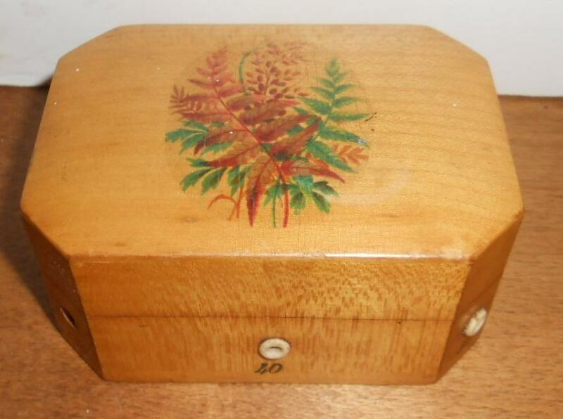 Antique John Clark Wood Sewing Spool Cotton Thread Dispenser Box