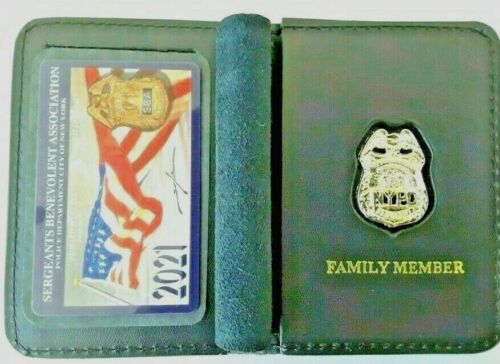 2021 SBA PBA CARD WITH LEATHER FAMILY MEMBER WALLET | Signed, Mini Shield /w #