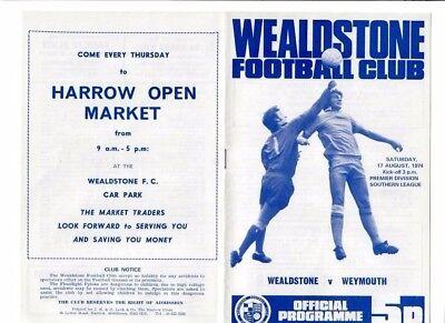 Wealdstone v Weymouth - 17/08/1974