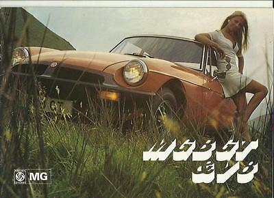 MG MGB GT AND V8 SALES BROCHURE MAY 1975