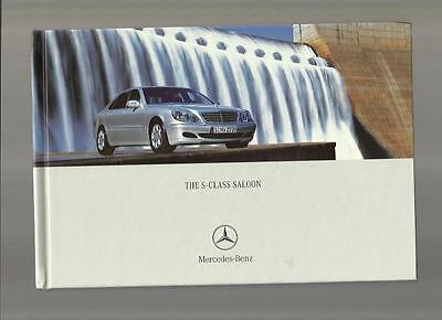MERCEDES BENZ S-CLASS SALOON CAR SALES BROCHURE SEPTEMBER 2003 FOR 2004