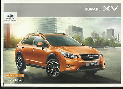 SUBARU XV CROSSOVER CAR SALES BROCHURE 2012 MODEL YEAR