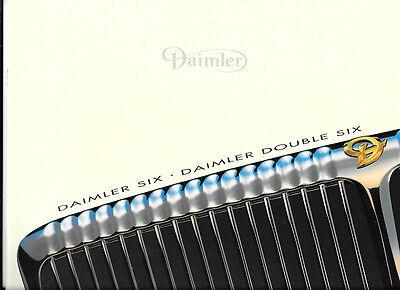 DAIMLER SIX AND DAIMLER DOUBLE SIX  OVERSIZED SALES BROCHURE 1996
