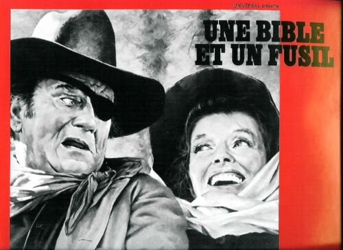 John WAYNE 2 French Pressbooks  HOW THE WEST WAS WON + ROOSTER COCKBURN