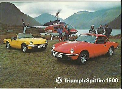TRIUMPH SPITFIRE 1500 SALES BROCHURE JANUARY 1977