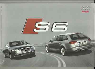 AUDI S6  SALOON  AND S6 AVANT SALES BROCHURE 2006