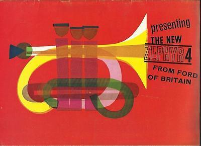 FORD ZEPHYR 4 SALES BROCHURE 1962 1963