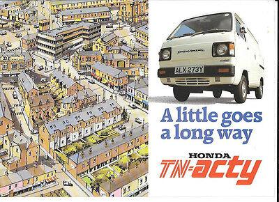 HONDA TN - ACTY VAN  AND PICK UP SALES BROCHURE @ 1983