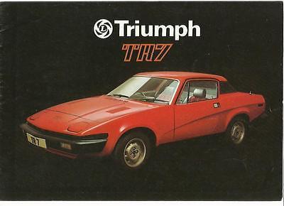 TRIUMPH TR7 SALES BROCHURE  APRIL 1977