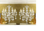 2 Ivory Baroque hanging ACRYLIC crystal Chandelier picture