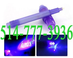 ✔ Invisible Ink Writing Magic Secret Pen Ballpoint with UV Led
