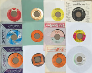 "Collections of 7"" (45) vintage vinyl records + Lps & 12"""