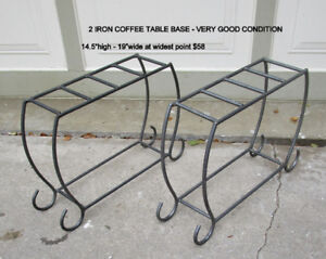 IRON BASE LEGS FOR COFFEE TABLE - 2 PIECES -