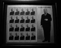 Alfred Hitchcock Stamps Full 20 Sheet Uncut framed 1997