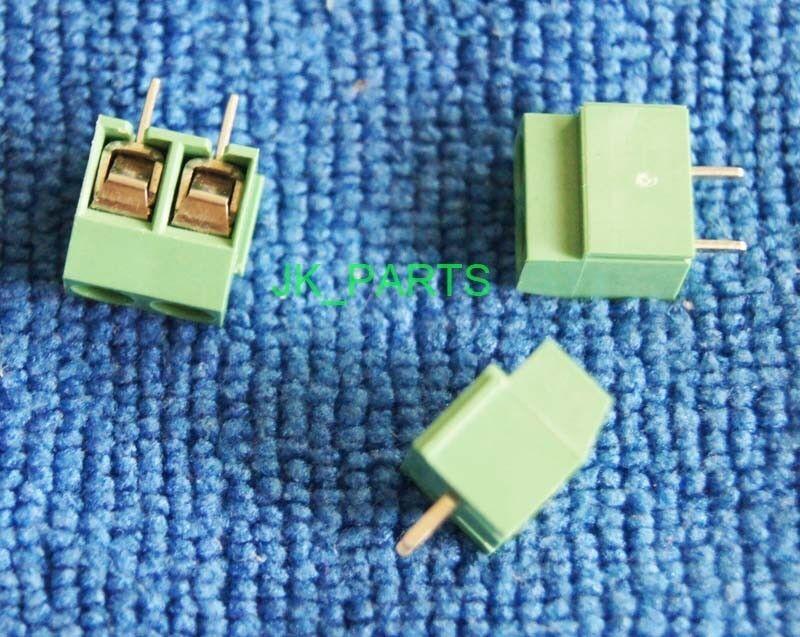 20pcs 5mm Pitch 2 pin 2 way Straight Pin PCB Screw Terminal Blocks Connector