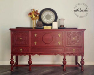 refinished sideboard