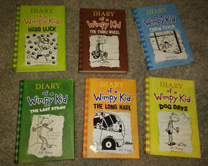 6 hardcovers Diary of a Wimpy Kid, excellent condition
