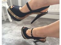 Well Worn Patent Platform Killer Stiletto Heels Shoes