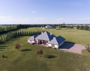 79 Acres in Leduc County with Beautiful Home & 60 x 120 Shop!