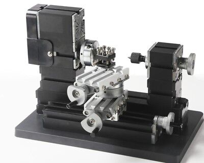 Mini 60w Diy Power Metal Lathe Machine Woodworking Soft Metal Tool Modelmaking