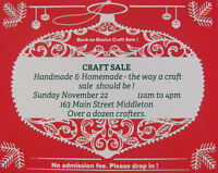 Handmade and Homemade Craft Sale