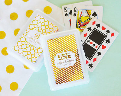 75 Personalized Playing Cards - Gold or Silver Foil - Wedding Anniversary Favor](Personalized Playing Cards Wedding Favors)