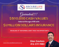 GUARANTEED HIGHEST CASH VALUE-LIFE INSURANCE- ACT FAST
