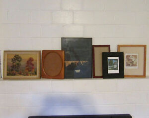 Lot of photo picture frames for projects