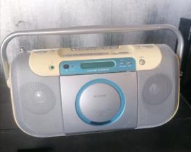 Sony cd cassette radio player boom box