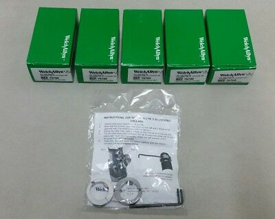Welch Allyn 3.5v Heads Security Locking Collar Ophthalmoscope Otoscope Lot Of 5