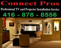 Residential & commercial TV wall mounting service@416-878-8556*